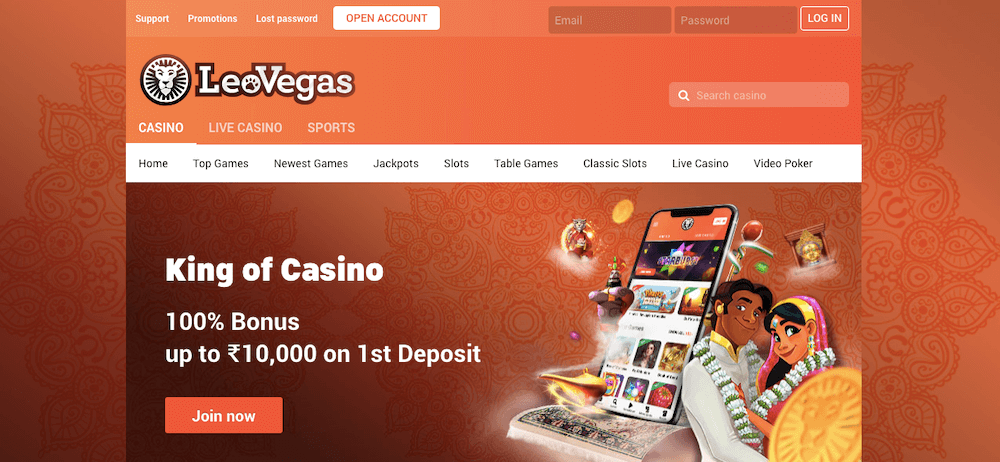LeoVegas India betting site