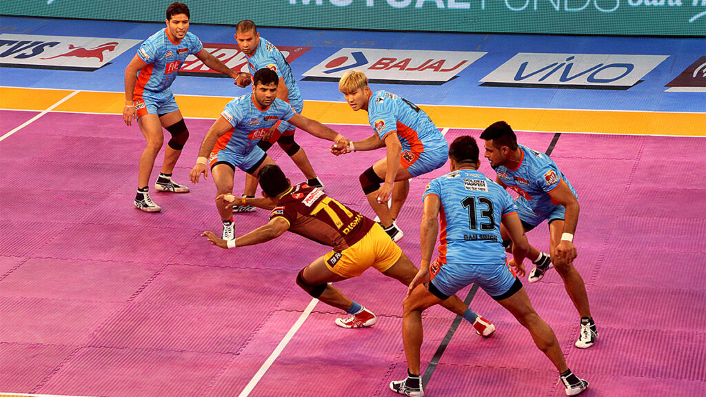 The rules of the Kabaddi game