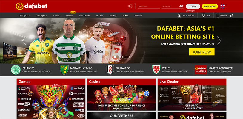 casino games on Dafabet